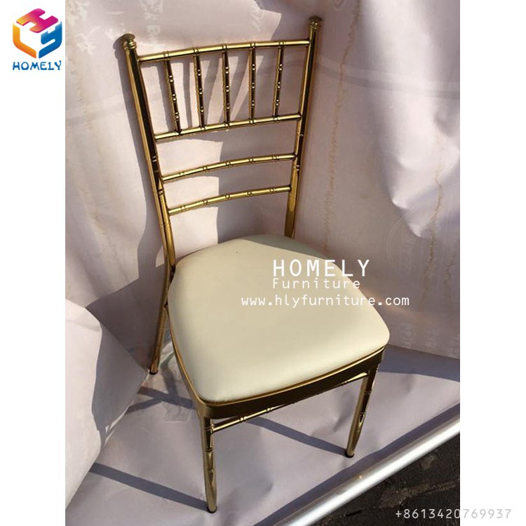 Factory promotional Tiffany iron Wedding Chiavari Chair