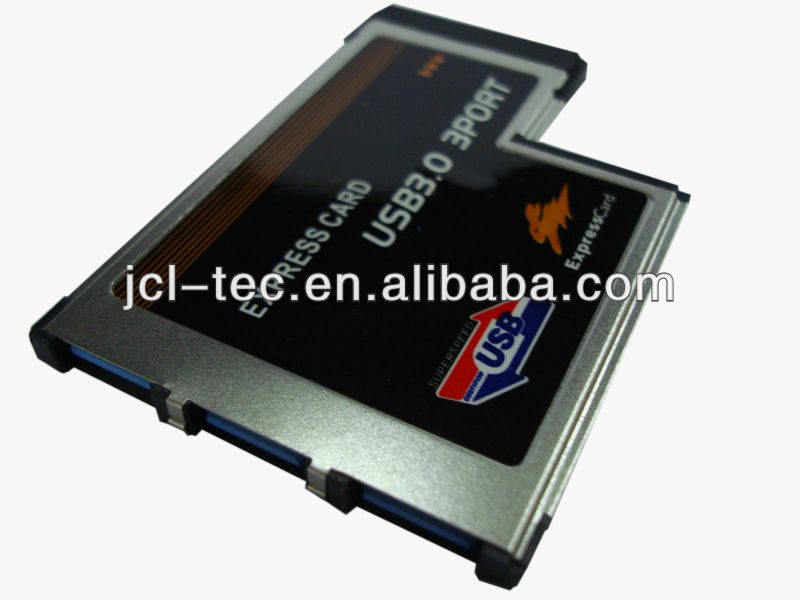 high speed Express Card to pci-e card 54mm to 3Port USB 3.0 Card adaptor