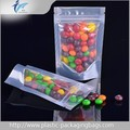 Customized Foil lined Transparent Nuts Bag Resealable Stand up Bag