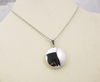 Polished Round Stainless Steel Silver Floating Pendant Necklace
