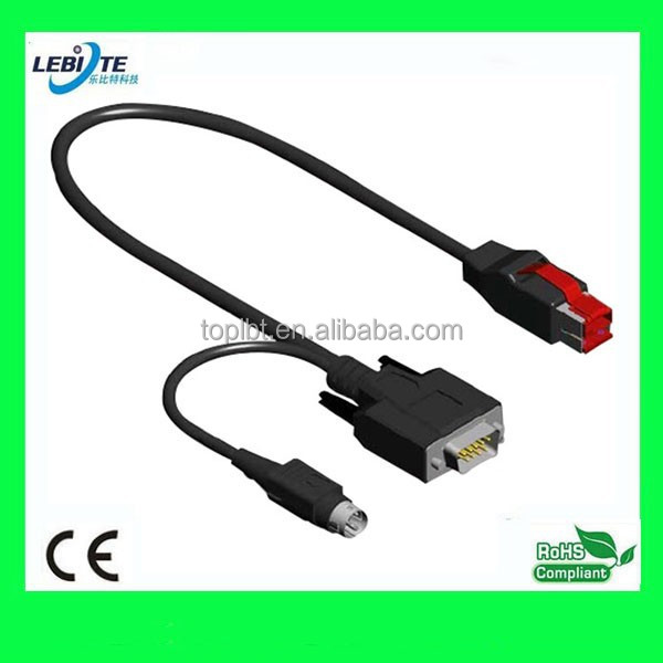 24V PoweredUSB to RS232 Y Convertor cable