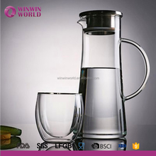 Hot Selling Useful Christmas Gift Borosilicate Glass Carafe for Iced Tea and Fruit Infused Water