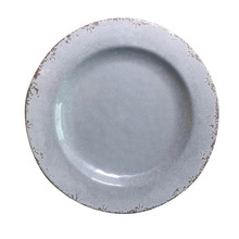 grey color Rustic and Vintage Melamine 11 inch round dinner <strong>plate</strong>
