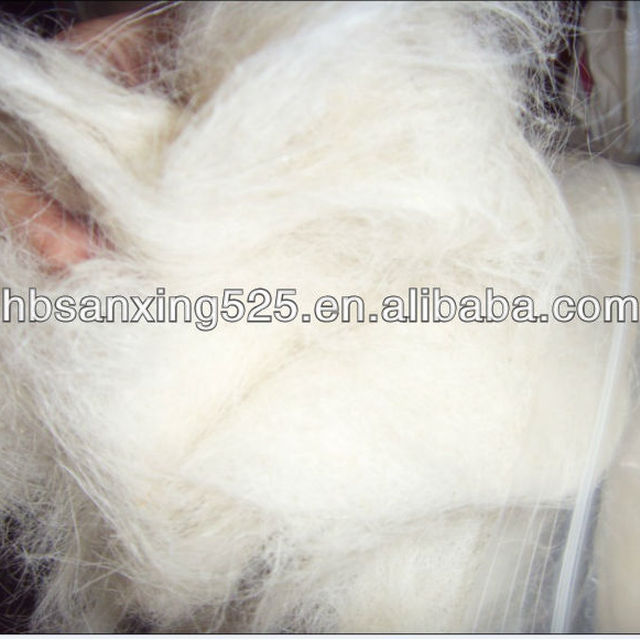 goat hair noils used for felt, white color,32mic 40-45mm.