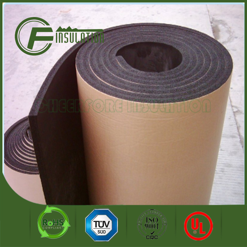 Self adhesive Thermal Insulation, NBR/PVC Foam Insulation, Foam Rubber Roll