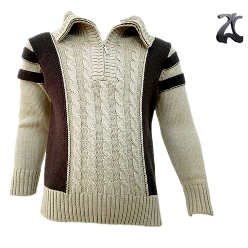 100% Cotton Baby Boy Sweater Designs For Child With Cable Knitting ...