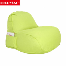Yellow Lazy Bean Bag Sofa Fabric furniture manufacturer armless recliner sofa beanbag chair