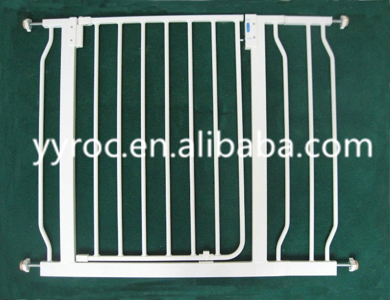 Baby safety gate for stairs and doorways