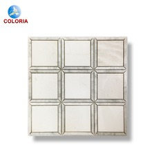 Bianca Carrara Roma Pattern Polished Marble Mosaic Tile