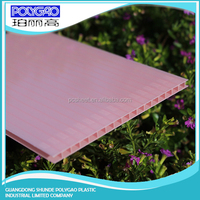Trustworthy China supplier multiwall polycarbonate plastic colored glass sheets / polycarbonate hollow sheet