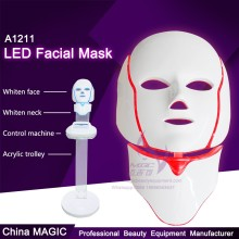 A1211 Wholesale Face Neck LED Mask For Facial Care With Red Blue Purple Light