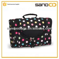 Outdoor hanging travel organizer, Foldable toiletry cosmetic accessories