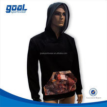 Fashion design sublimation printing high quality plain hoodie for mens