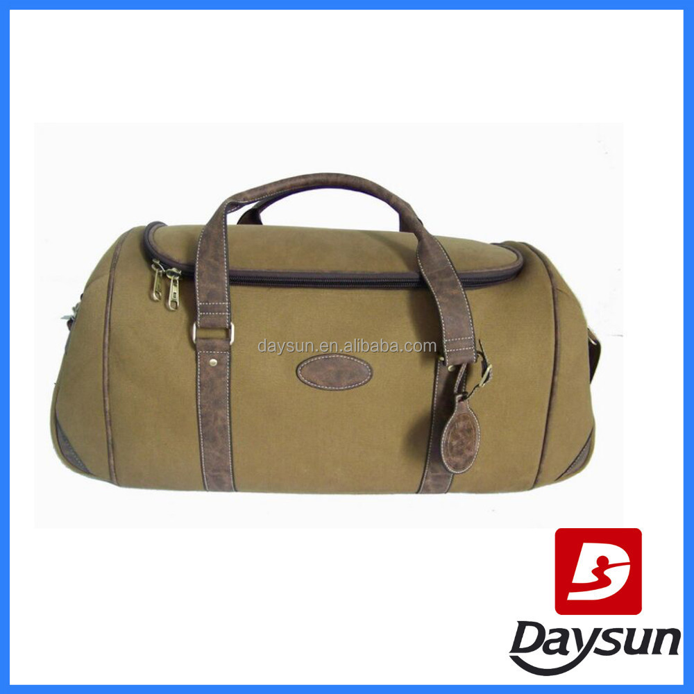Canvas and Imitation Leather Travel Bag mens canvas leather travel bag