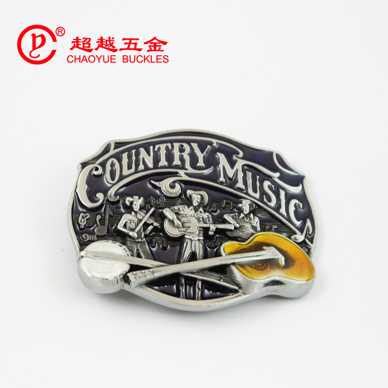 Fashion music style western belt buckle