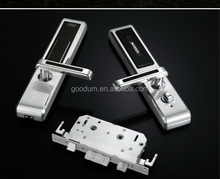 Goodum hot selling!gold colour fingerprint password and card lock Aaprtment lock with high technology
