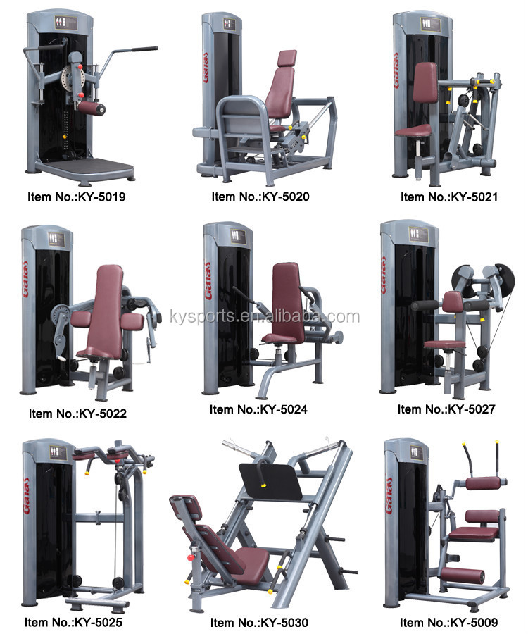 Commercial Gym Equipment Back Muscle Training Ky 5051 Lying T Bar Row