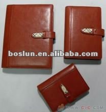 Hotsale leather cover promotional note book