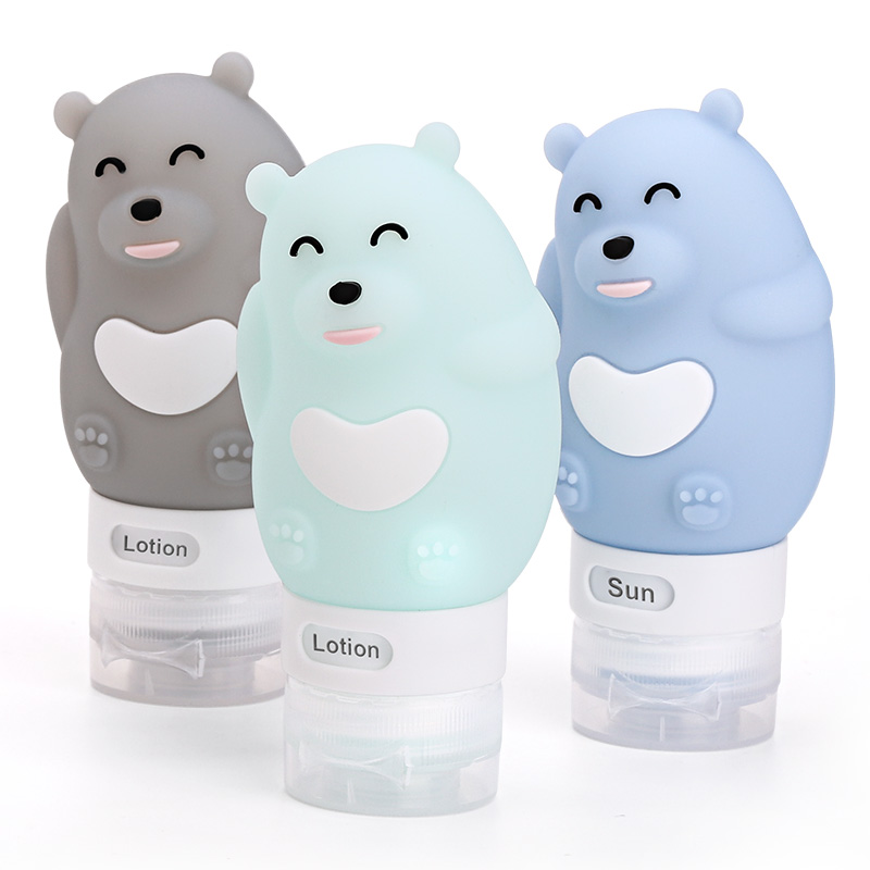 Portable Squeezable Food Grade Silicone Travel Bottle Set