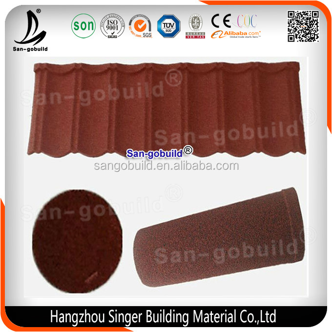 Aluminum Zinc Material and Metal Roof Type Sun Stone Coated Metal Roof Tile