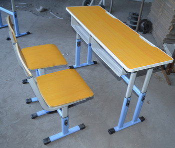 church college middle school cheap standard sizes kids attached school desk and chair
