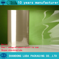 China popular clear transparent PE cling wrap film with stock sales for stretch fillm machine