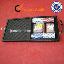 MLD-PC24 High Quality 100pc Poker Chips Sets With PU Leather cases