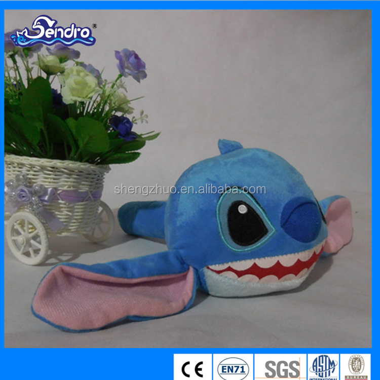 Lovely bule fish toy plush frog fish