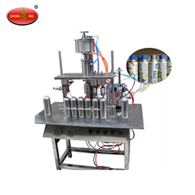 Automatic Perfume Body Spray Paint Can Aerosol Filling Machine in China