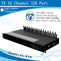 YX goip-32 with proxy server 32 channel 128 sim vpip machine support sms & ussd