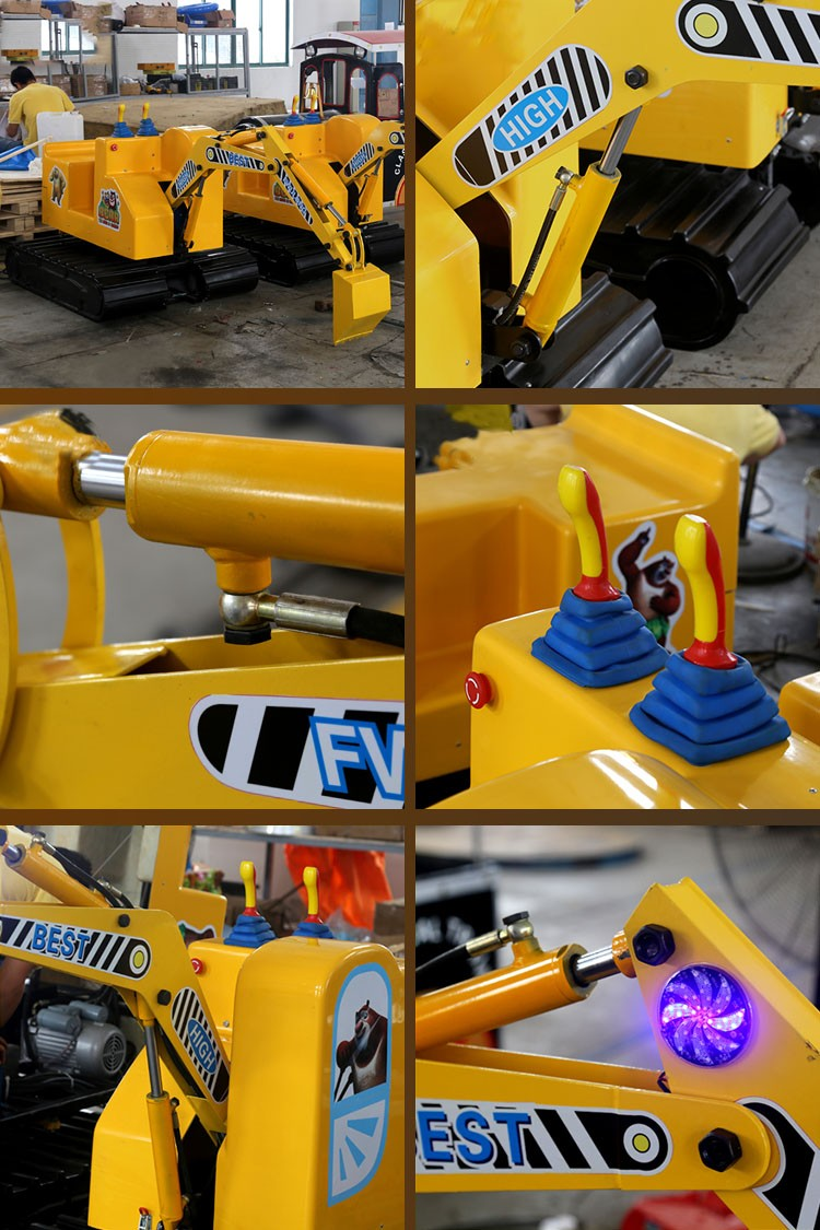 coin operated playground electric mini excavator for kid view