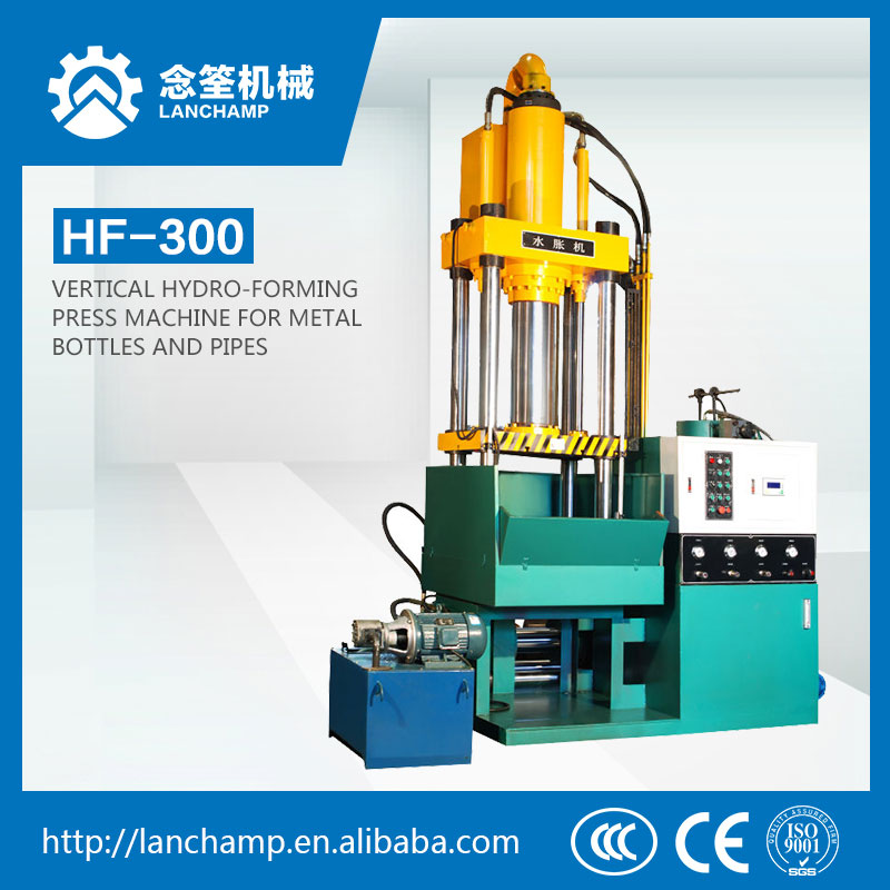 3-beam 4-Column Vertical Hydro-forming Press Machine for Metal Bottles and Pipes (LCY98-250T)