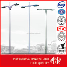 8m Double Arm Street Lighting Pole with Galvanization and Powder Coated