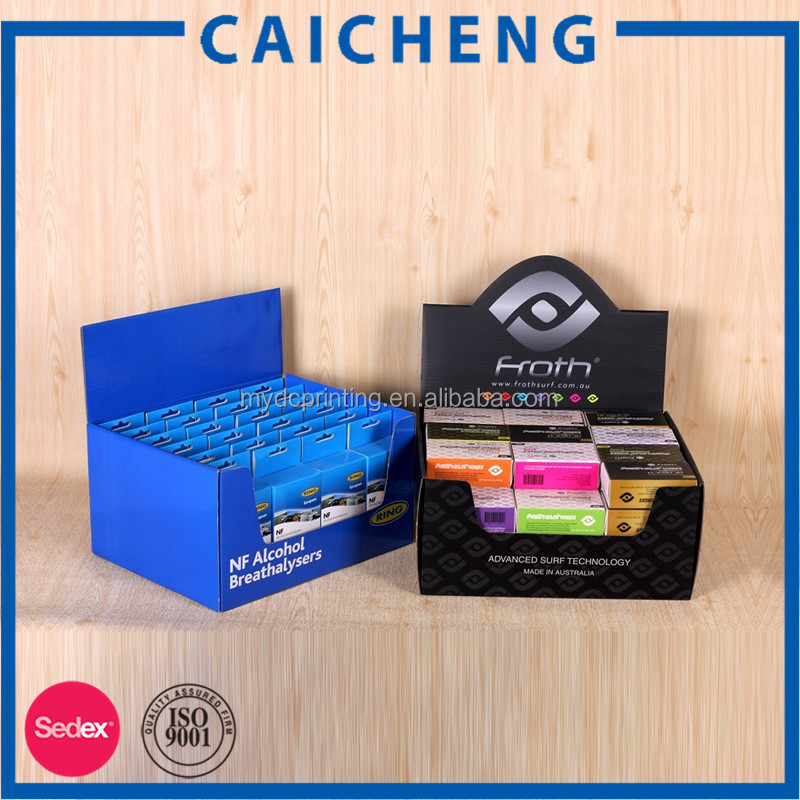 High quality custom folded cardboard display box