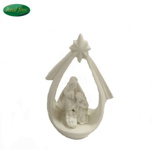 ellipse ceramic sainte family figurine decorations