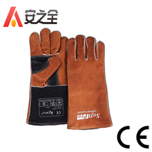 Wholesale Brown Lumberjack Welding Work Gloves & Waterproof Mechanics Gloves With CE Standard