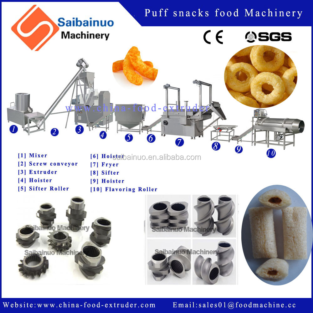 Snack Making Machine/Puffed Snacks Maker/snacks food processing line