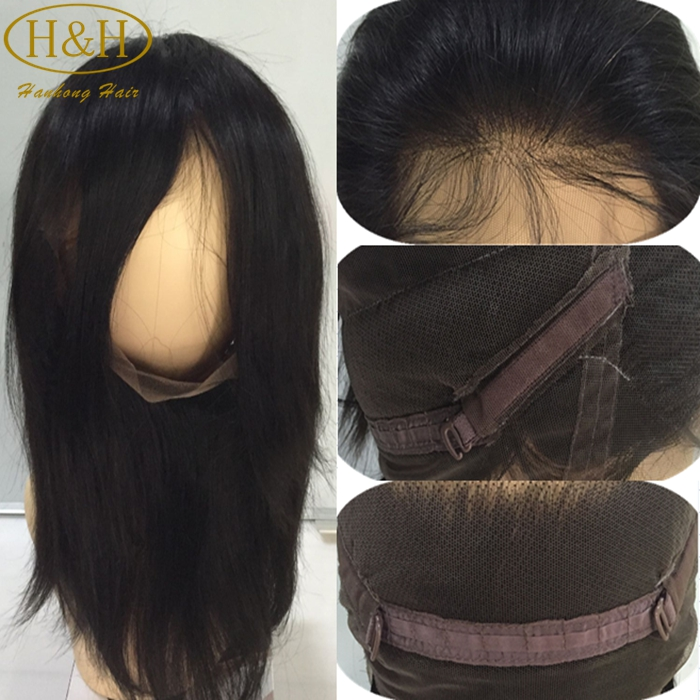 "Grade7A Brazilian Virgin Hair 360 Lace Frontal Closure 22""*4"" Elastic Band Human Hair Frontal Closure Bleached Knots"