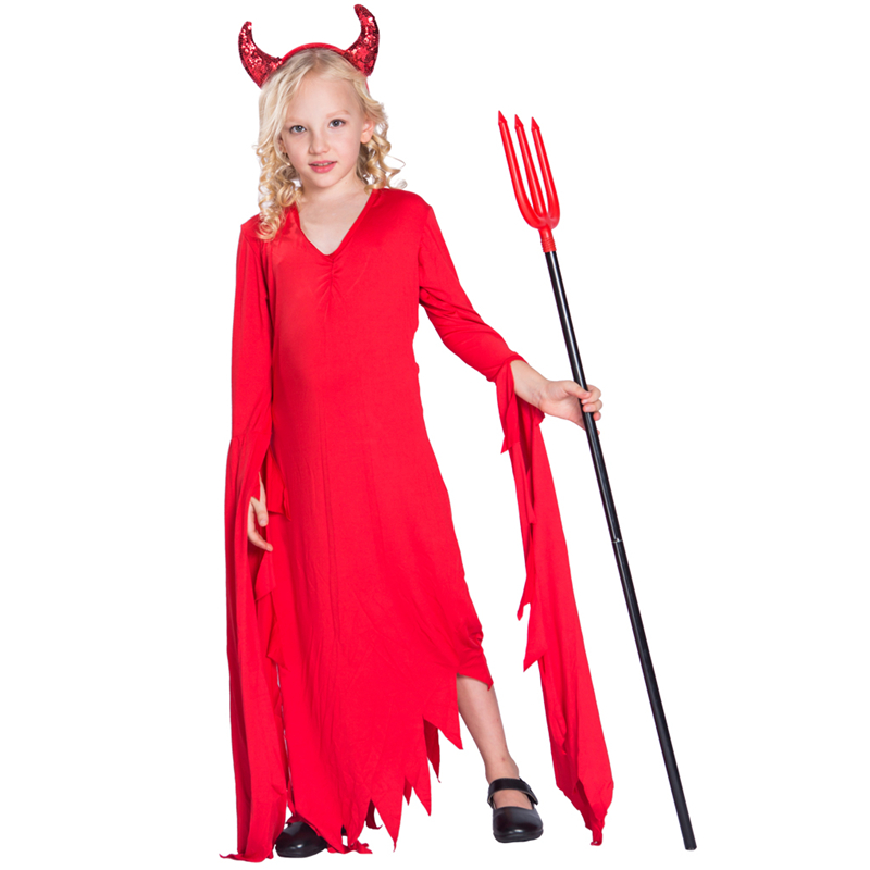 Factory Hot Sale Novelty Scary Devil Shredded Robe Cosplay Costume For Halloween Party