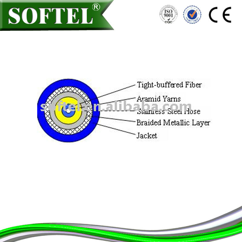 Fiber optic Armored Tactical Cable