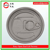 China Aluminum Easy Open End Can Lid Manufacturer 206#