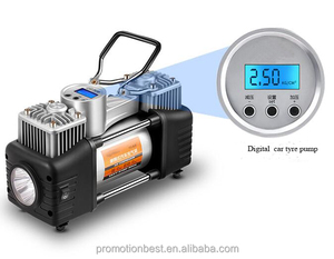 digital double power car air compressor / DC 12V digital car tire inflator with light