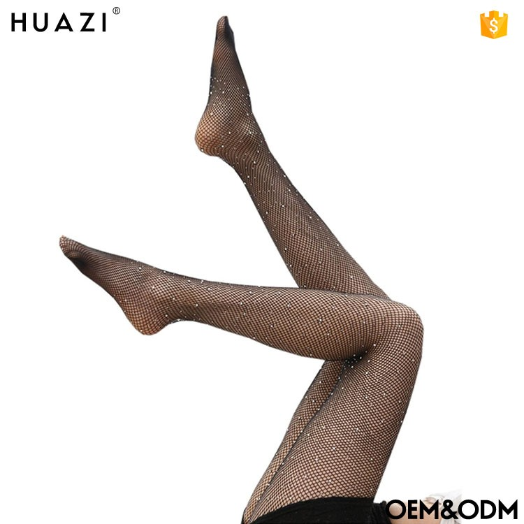 Hot seling Women's Fashion Crystal in tube stockings Rhinestone Pantyhose Fishnet Tights Stockings