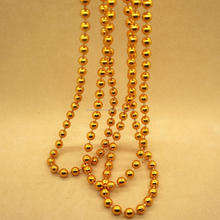 2017 wholesale Mardi gras beads custom round gold plated plastic beads for curtains