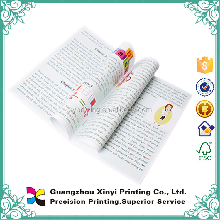 2016 Low cost children cartoon story book printing softcover and coated art paper