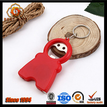 Promotional metal beer keychain bottle opener with plastic