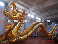 Commercial inflatable gold dragon air balloon for sale S2036
