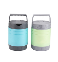 Promotion round stainless steel food container stainless steel lunch box for kids food warmer with pp handle