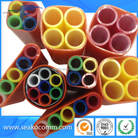 Free Sample, China supplier, HDPE Microduct for air blowing fiber, Red Color, low friction micro duct