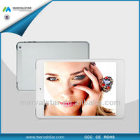 7.85 inch 3g tablet pc mtk6589 quad core cpu with android 4.2 OS+WIFI+BT+GPS+Dual camera+HDMI Function+2G/3G calling